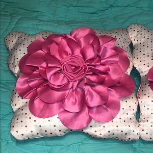 Other - 2 pink floral pillows